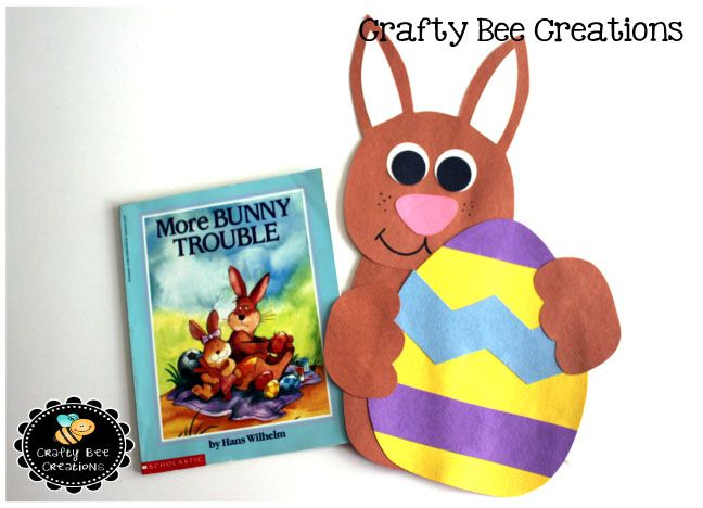A Bunny And Easter Egg Cut Paste