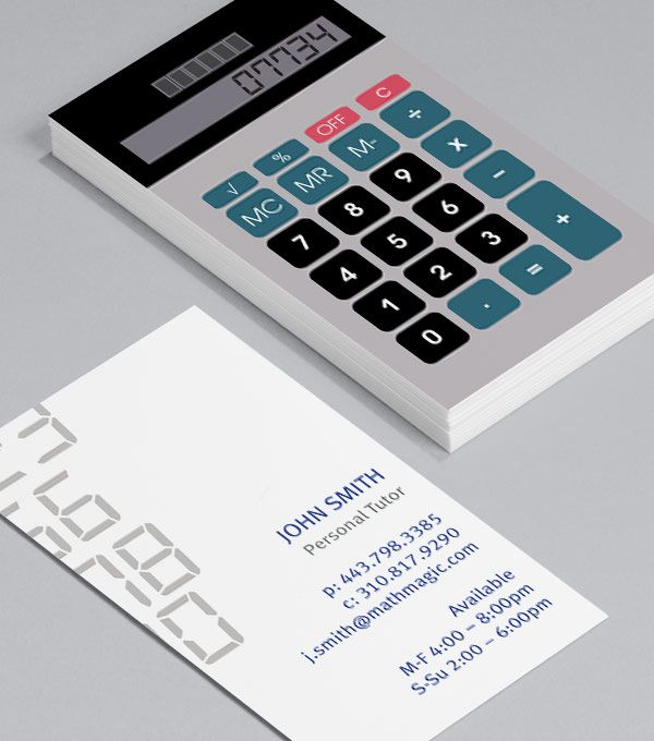 Retro Calculator: Business Cards for accountants, bookkeepers ...