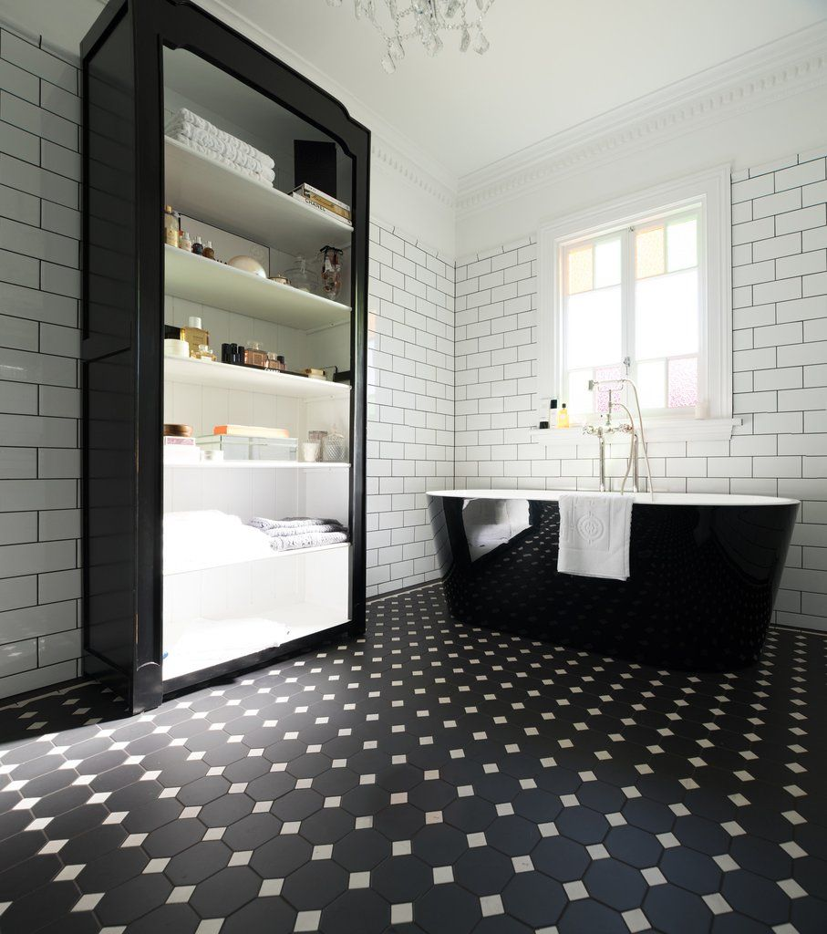 Olde English Tiles Olde English Iii Patternwhite Wall Tile Gorgeous Bathroom Heritage Tessellated Til With Images Loft Style Homes Grey Bathroom Floor Dining Room Style