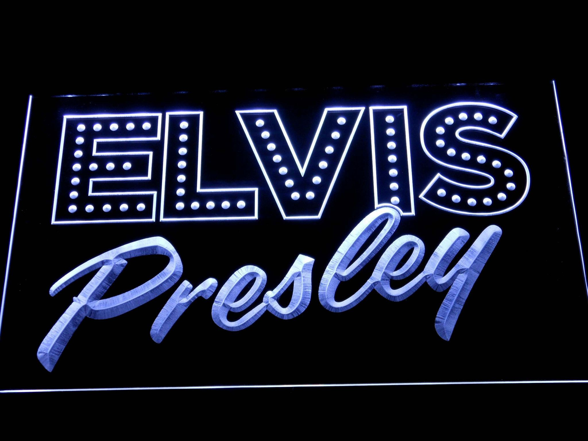 Elvis Presley Old School LED Neon Sign