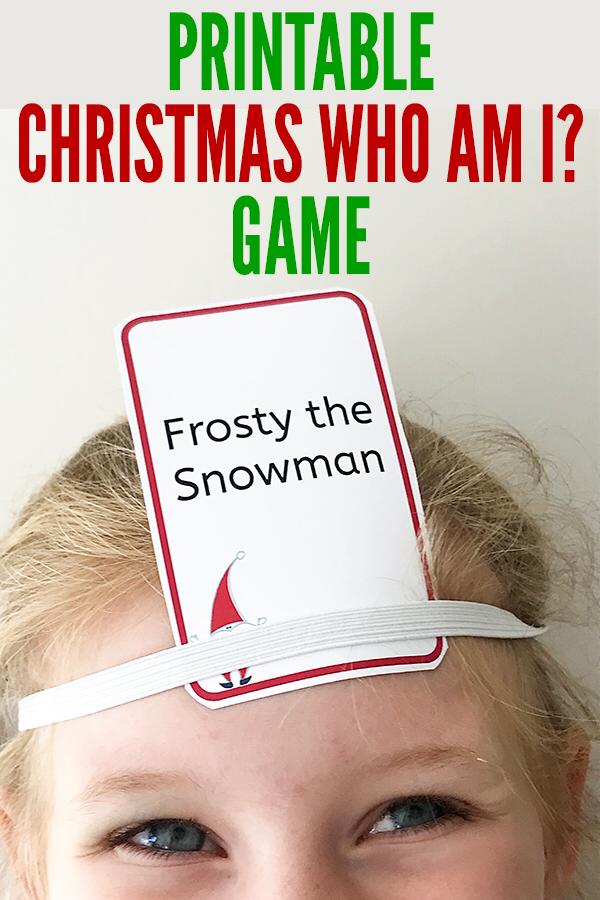 Free Printable Christmas Games: Christmas Who Am I?