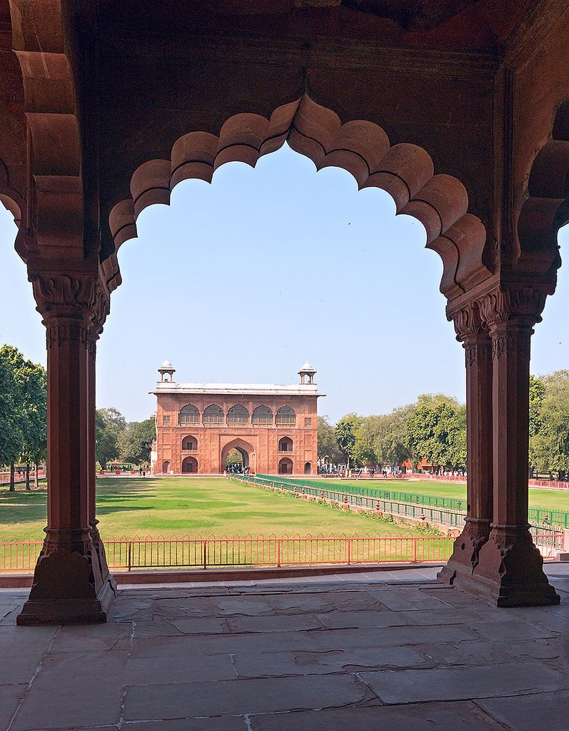 Diwan-e- Aam, the Hall of Public Audience in the Red Fort