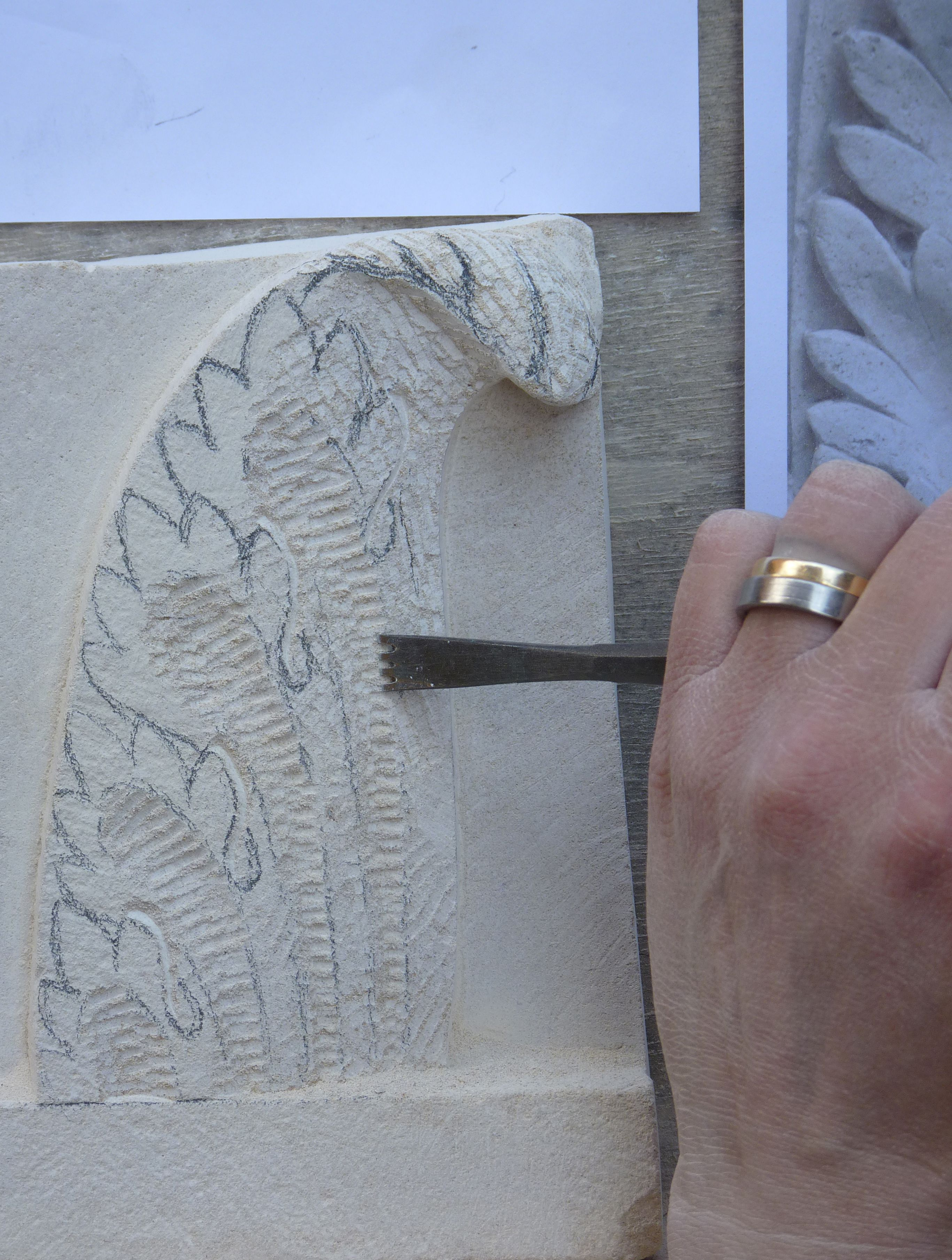 Relief carving in stone taster course u carving simple