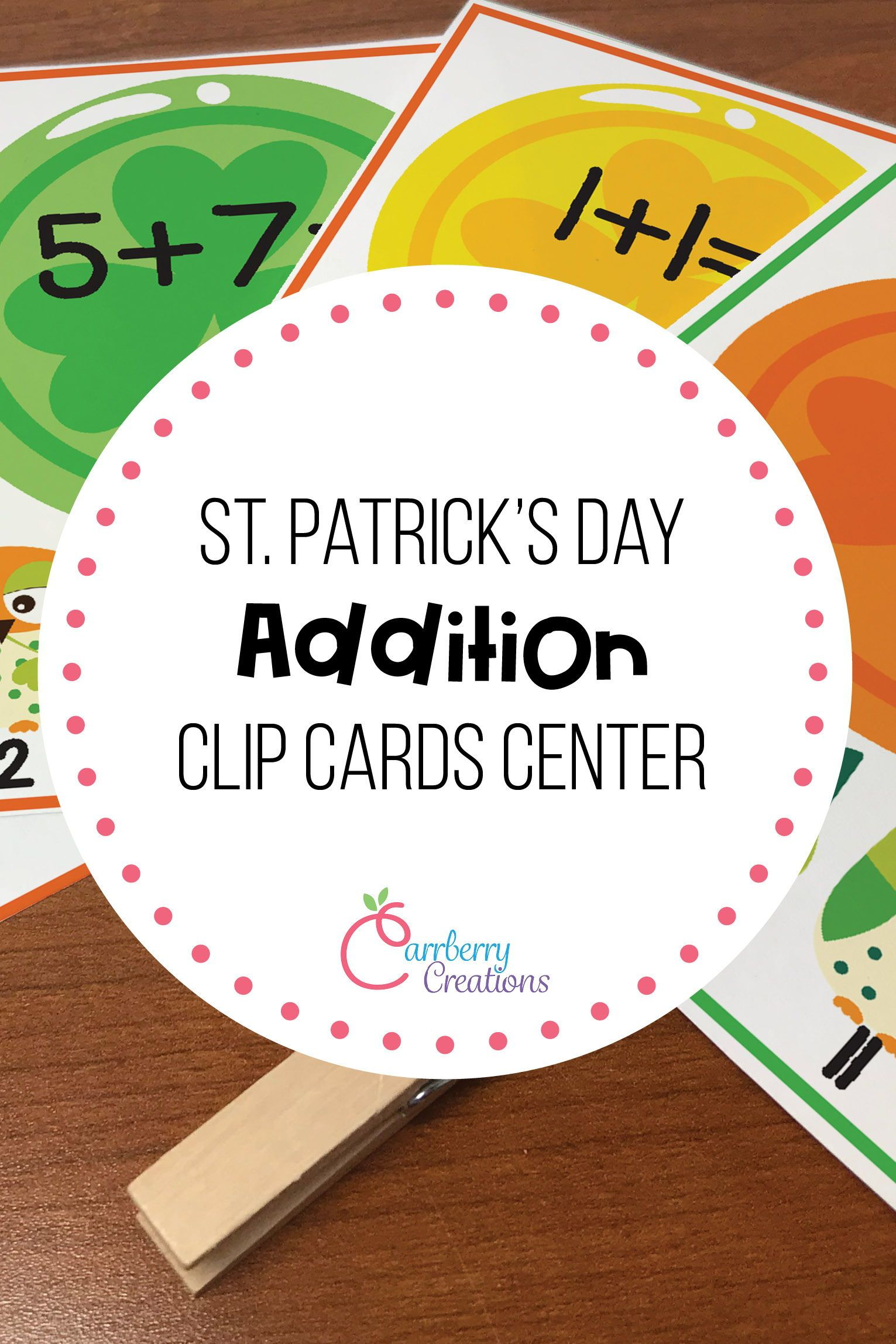 St Patrick S Day Addition Interactive Task Cards Center