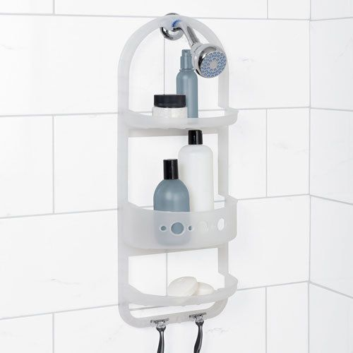Bathroom Shower Caddy Plastic Holder Shampoo Soap Razor Rack Organizer  #ZPCZenithProductsCorporation