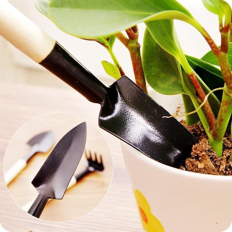 3 Pcs/set Mini Spade Plant Soil Shovels Gardening Tools