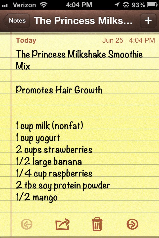 Happy hair growth smoothie