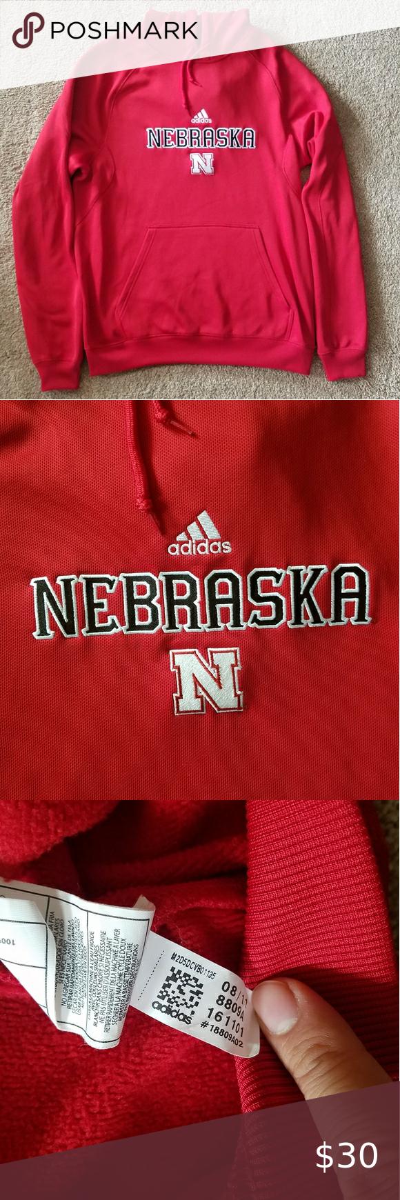 Adidas Nebraska Cornhuskers Climawarm Hoodie Sweatshirt Shirt Sweatshirts Adidas Shirt [ 1740 x 580 Pixel ]
