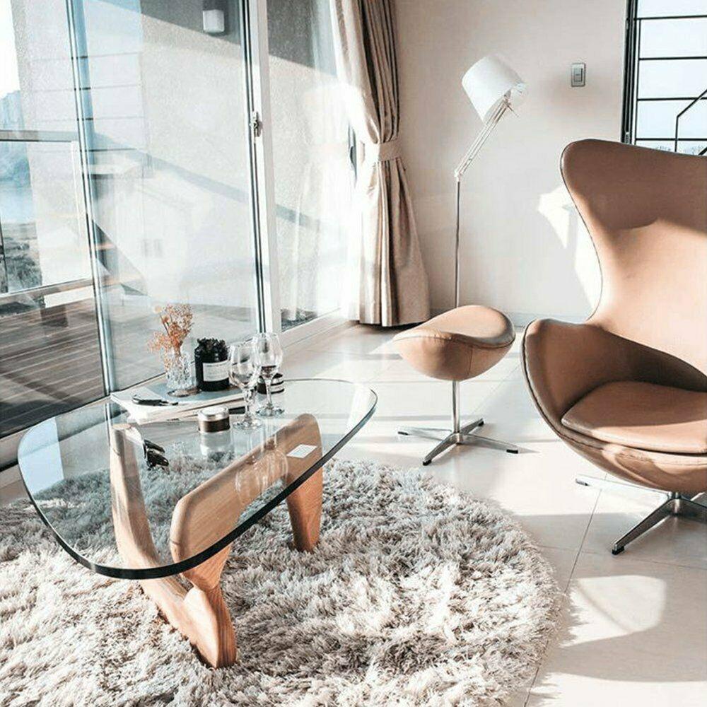 Premium Modern Noguchi Coffee Table Isamu Replica Glass Top In Natural Wood 359 99 Coffee Table Ideas Of Noguchi Coffee Table Noguchi Table Coffee Table [ 1000 x 1000 Pixel ]