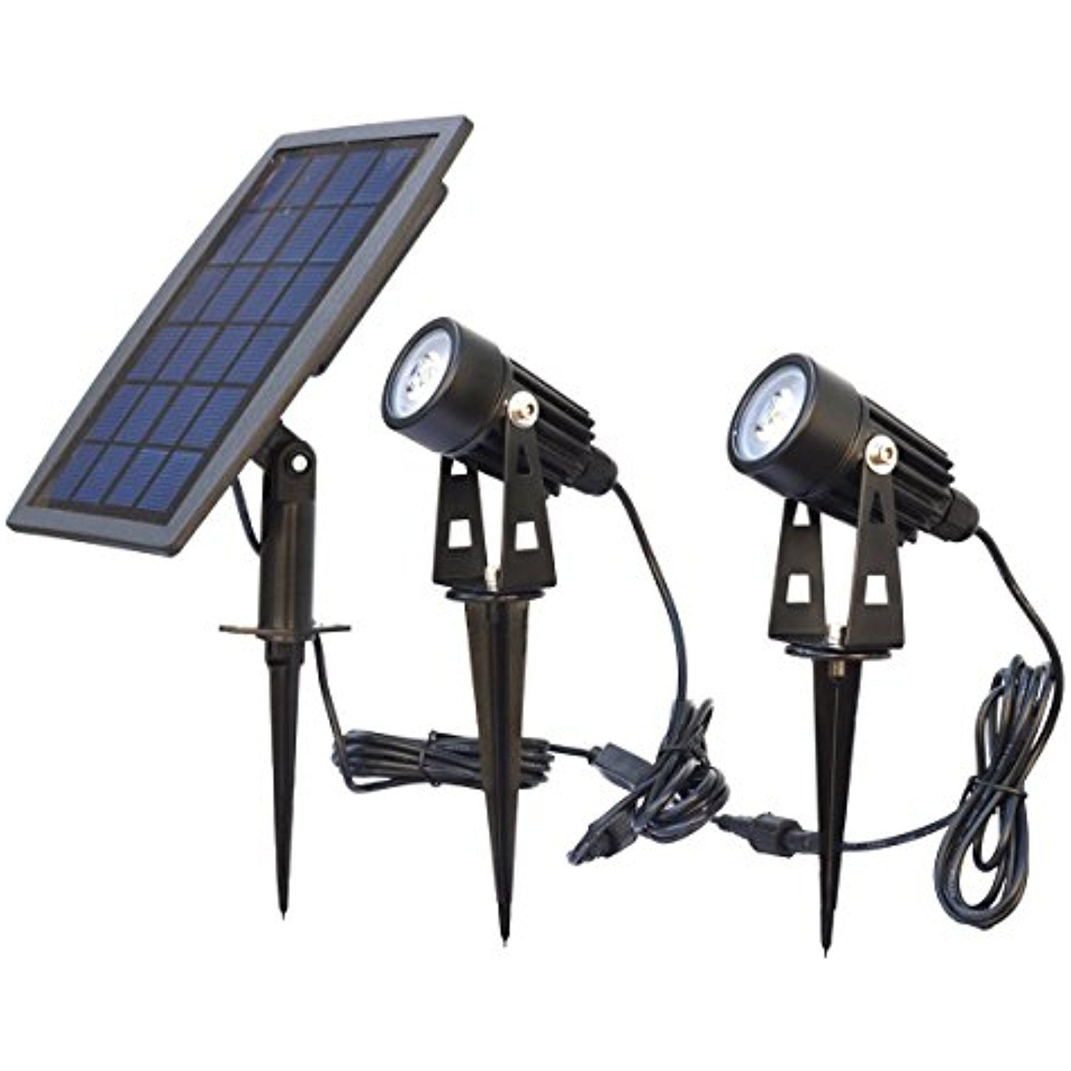 Solar Spotlights Waterproof Wall Sconces Security Light Solar Panel Powered