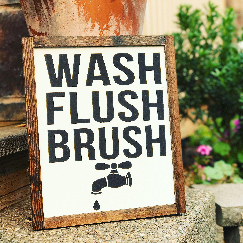 Wash Brush Flush Sign by theboardroompdx on Etsy https://www.etsy.com/listing/555985361/wash-brush-flush-sign