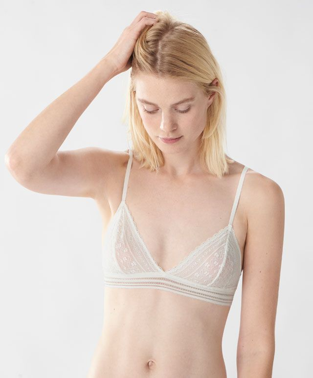 fbf334383c3a Non-wired geometric lace bra - Bralette - Autumn Winter 2016 trends in  women fashion at Oysho online. Lingerie, pyjamas, sportswear, shoes,  accessories, ...