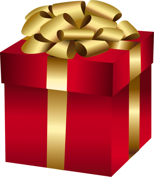 Large red gift box with gold bow hearts boxes png pinterest large red gift box with gold bow negle Images