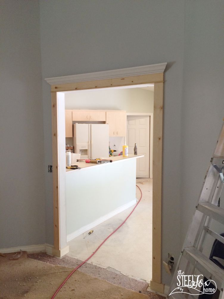 How To Install Diy Cased Openings And Custom Window And Doorway Trim Work Steel Fox Home Blog Renovation Story Before Pi Diy House Renovations Trim Work Home