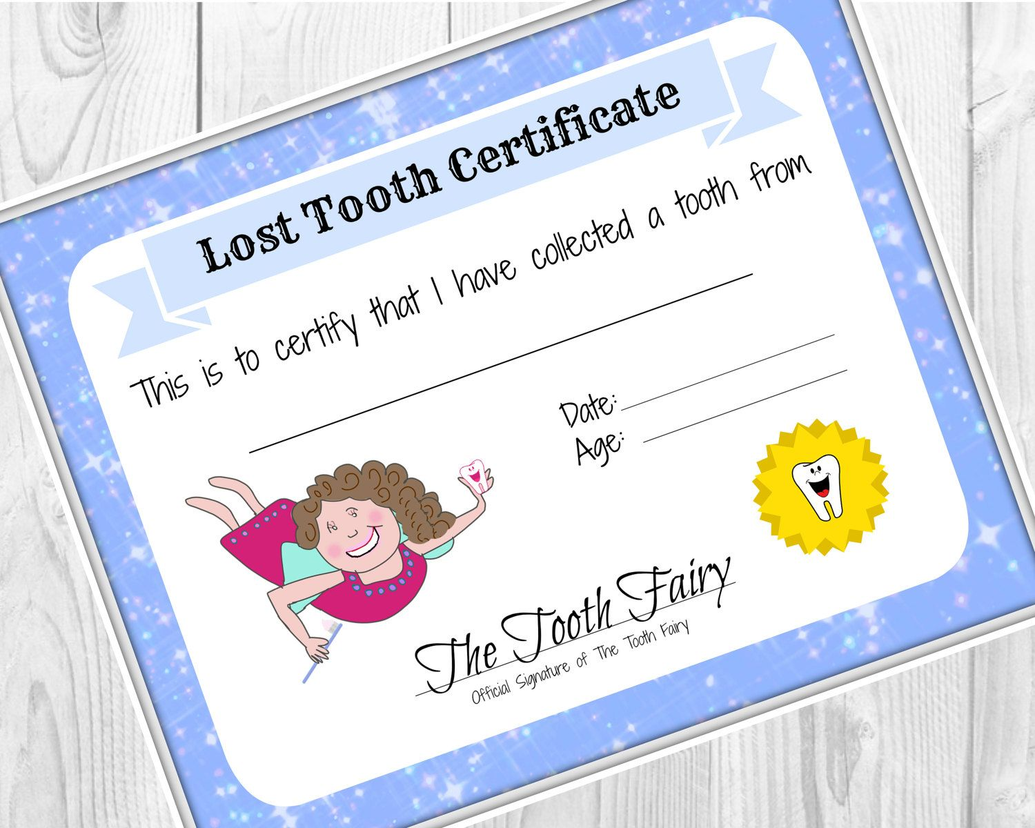 Girls first haircut certificate baby first haircut photo tooth fairy certificate lost tooth child baby milestone letter from tooth fairy xflitez Gallery