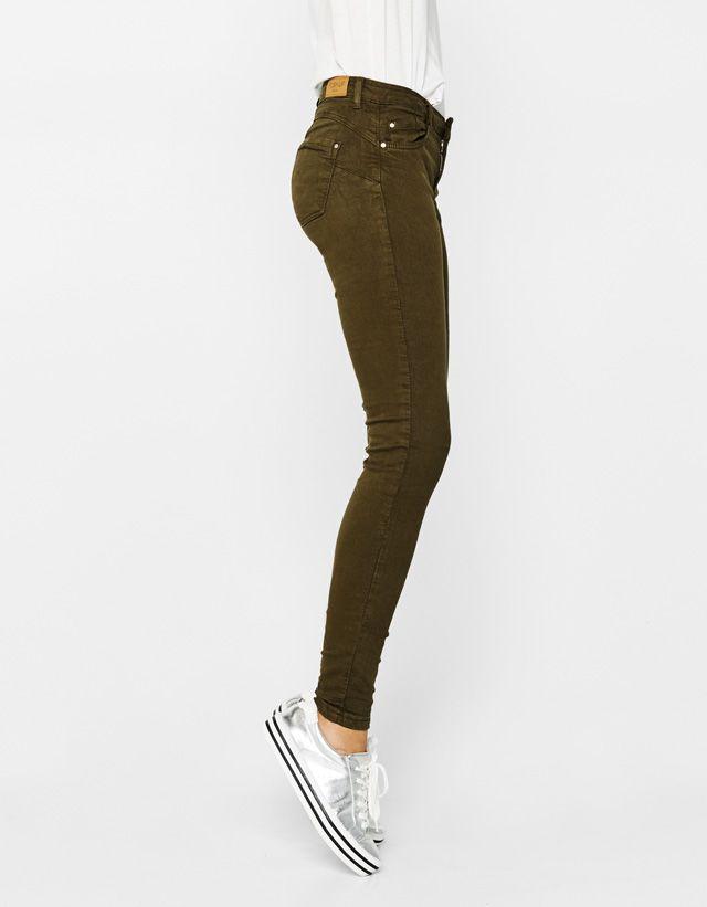 Pantalon Push Up 5 Poches Ropa Pantalones Mujer Y Pantalones