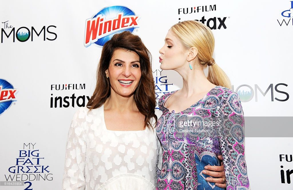 mamarazzi screening of my big fat greek wedding greek  actresses nia vardalos l and elena kampouris attend the mamarazzi screening of my big fat greek wedding on 2016 in new york city
