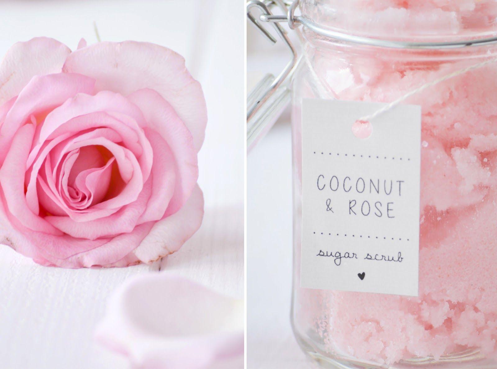 diy body scrub mit rosenwasser limette kokos l. Black Bedroom Furniture Sets. Home Design Ideas