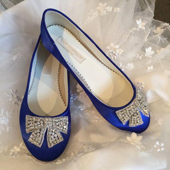 Sapphire Blue Flat Shoes Royal Blue Wedding Shoes by Parisxox ...