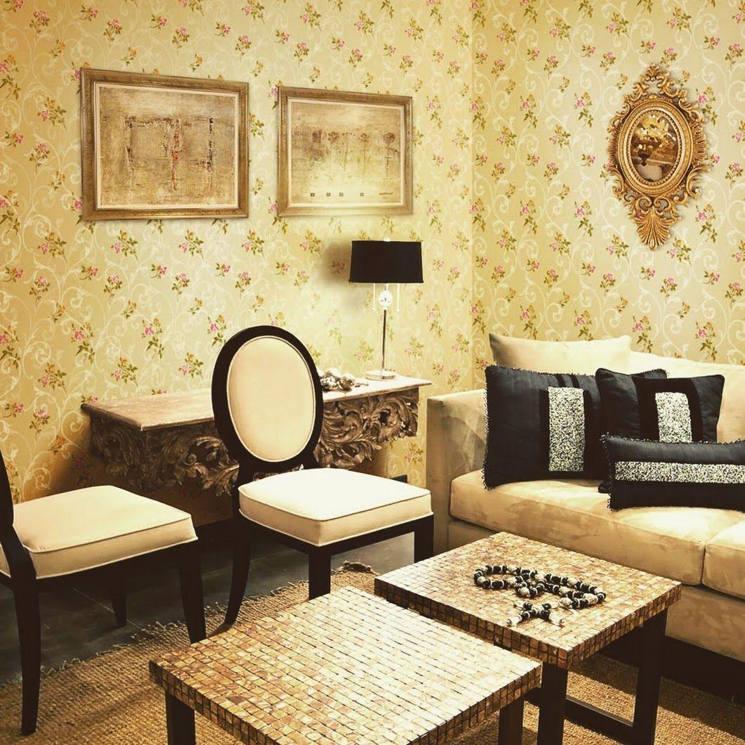 Ramaikan suasana interior bangunan dengan wallpaper motif batu alam ...
