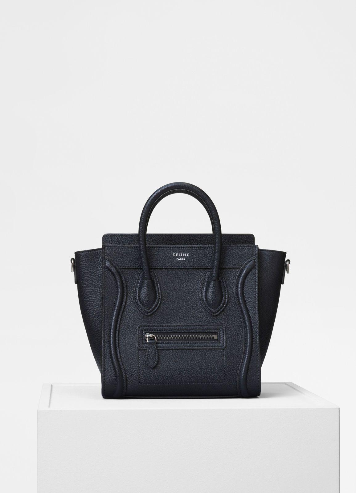 15f999241e5e Nano Luggage bag in drummed calfskin