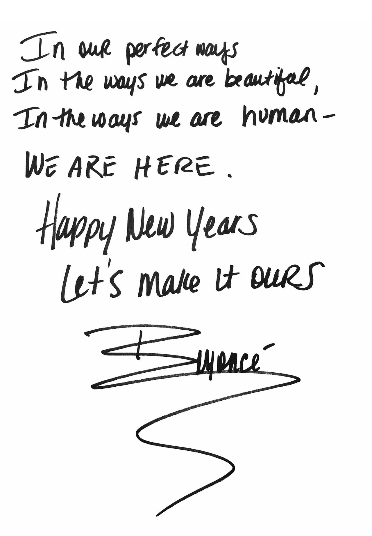 A New Years Letter From Beyonce Corny Quotes Inspirational Words Quotes About New Year