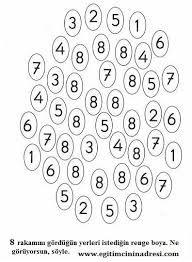 8 Rakami Boyama Ile Ilgili Gorsel Sonucu Matematik Merkezleri