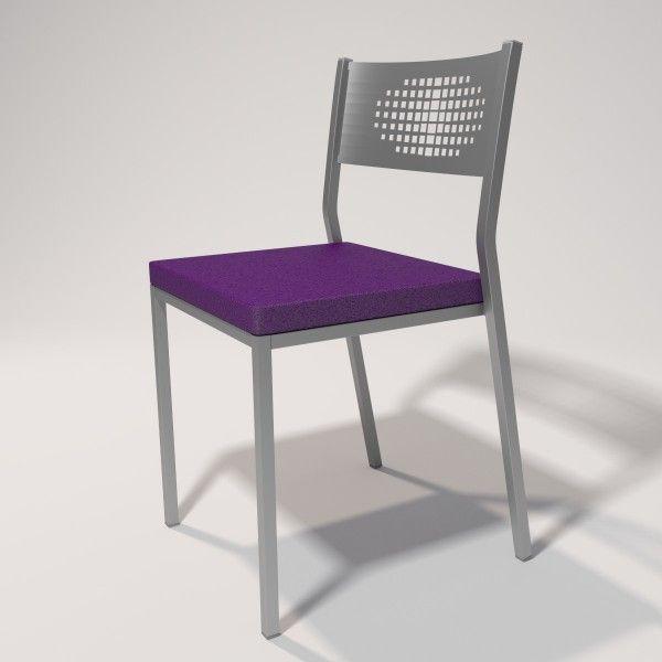 Silla para cocina con asiento en 4cm tapizado en Skay violeta ...