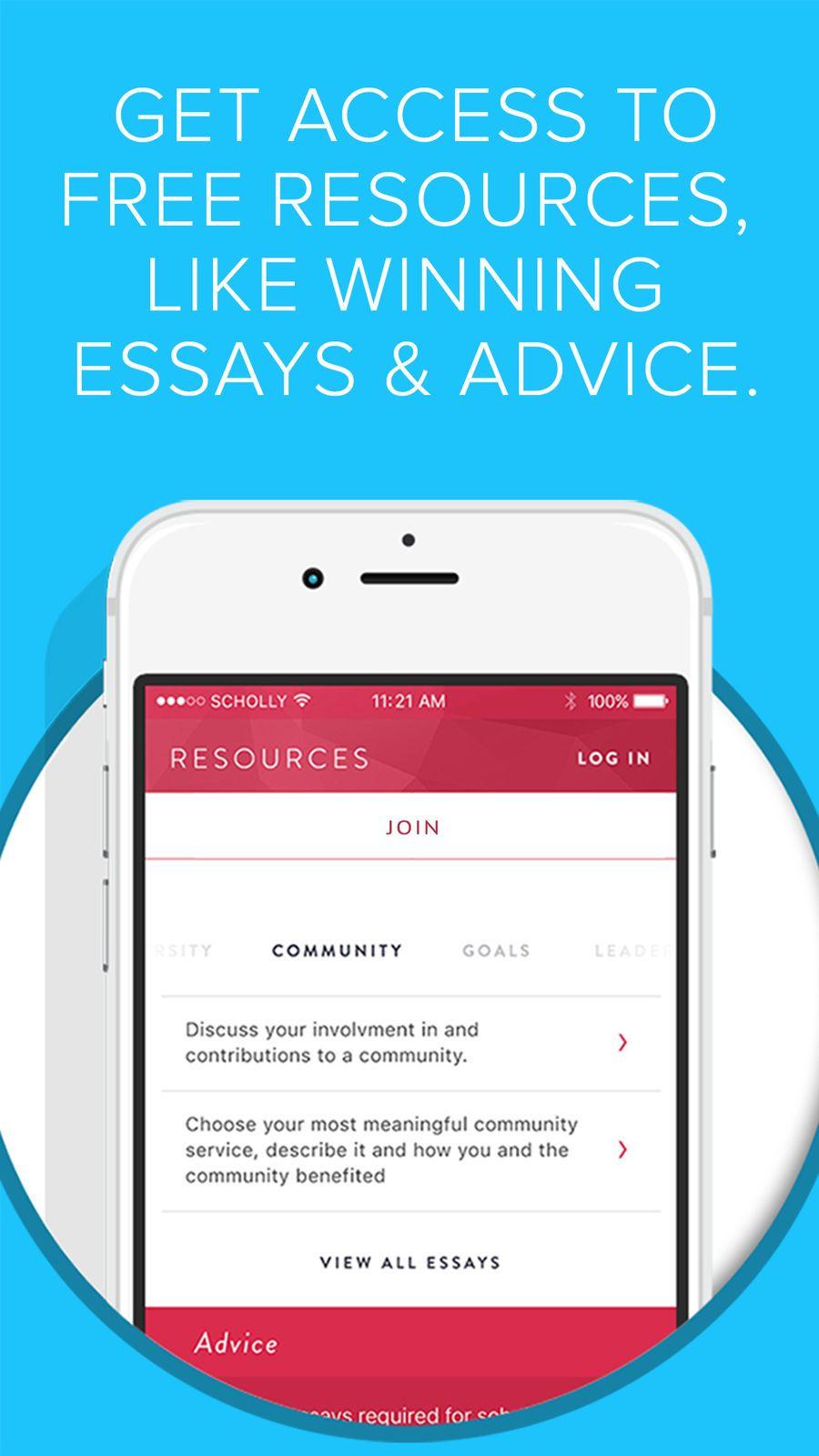 Scholly Apps App Appstore Ios Essay My Community App