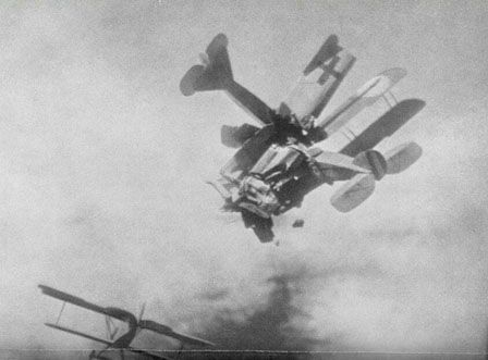 1944-Allied and Enemy Planes in a Dramatic Dogfight over Germany