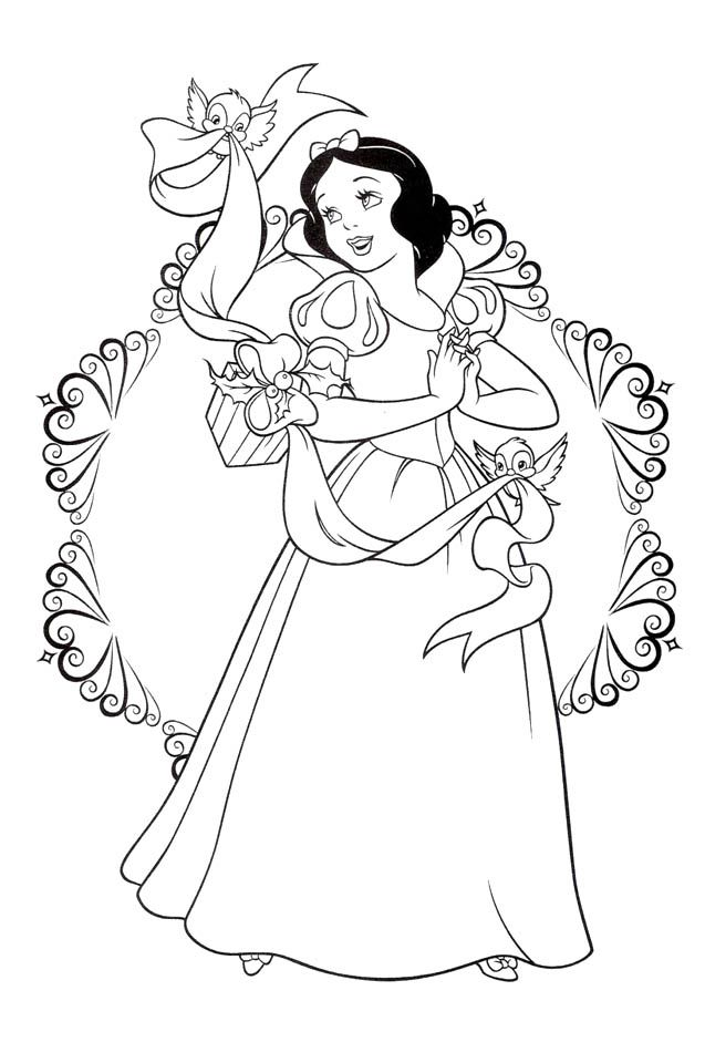 snow white coloring pages Căutare Google Coloring
