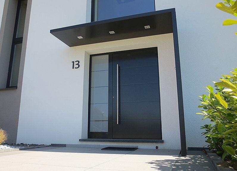 Vordächer aus Metall, Edelstahl und Glas