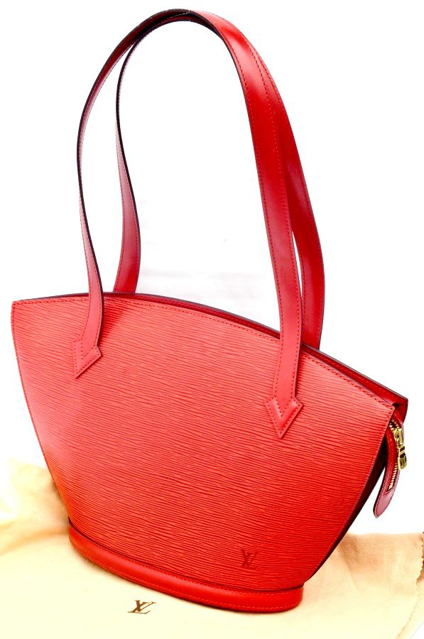 39760276f3ea Louis Vuitton Epi Saint Jacques Red PM Women s Hand Bag