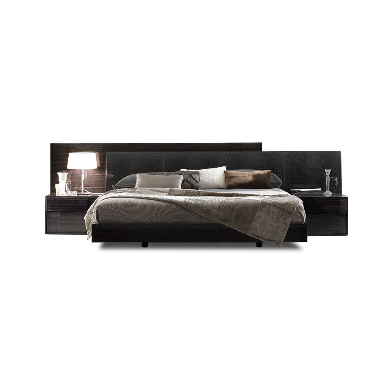 The Nightfly Bed Continental Size Rossetto Ebano Wood With