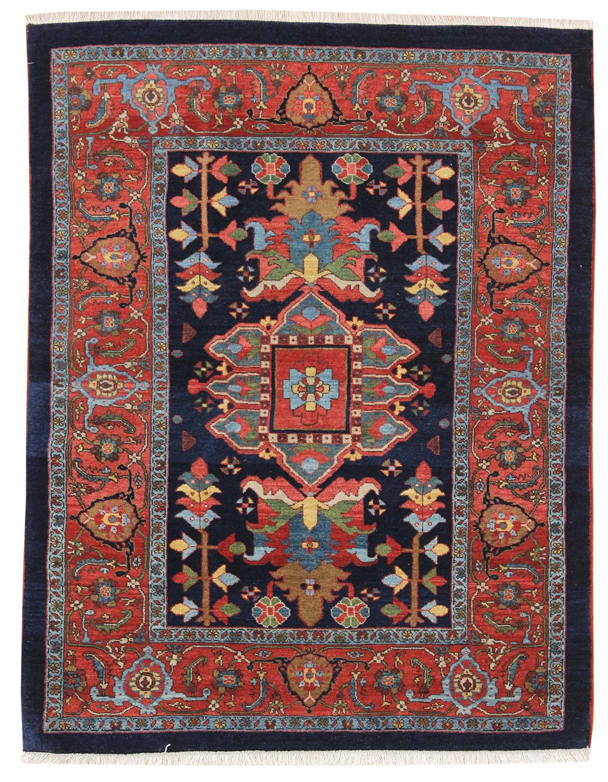 And Smaller Gallery Persian Heriz Rug Hand Knotted In Persia Size 3 Feet 11 Inch Es X 5 2