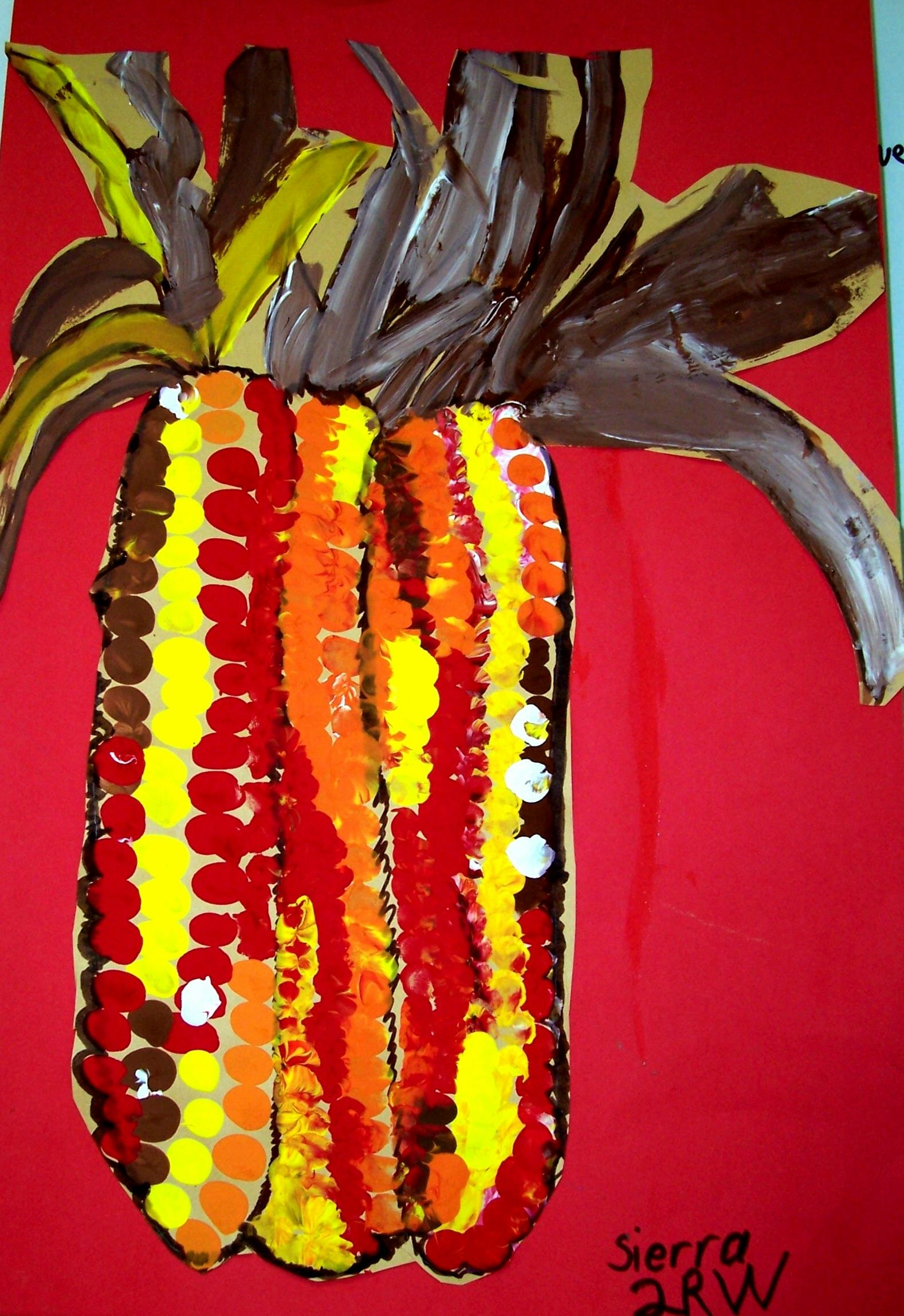 Indian Corn Painting With Images