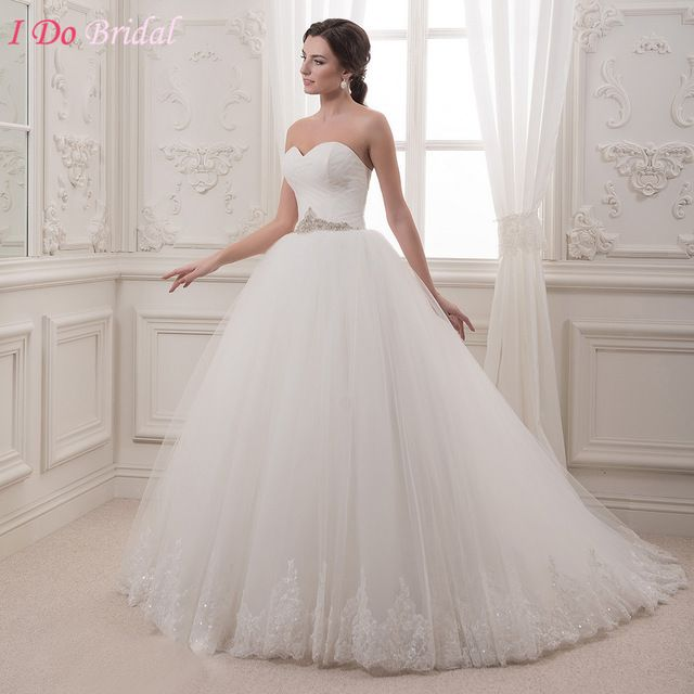Robe de mariage Modest Country Wedding Dress Plus Size Tulle Simple ...
