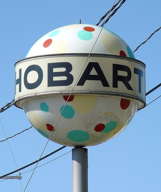 Hobart, Indiana Norge Village Ball Sign (2 Of 2) - Dry Cleaners - 5/17/09 by randomroadside, via Flickr