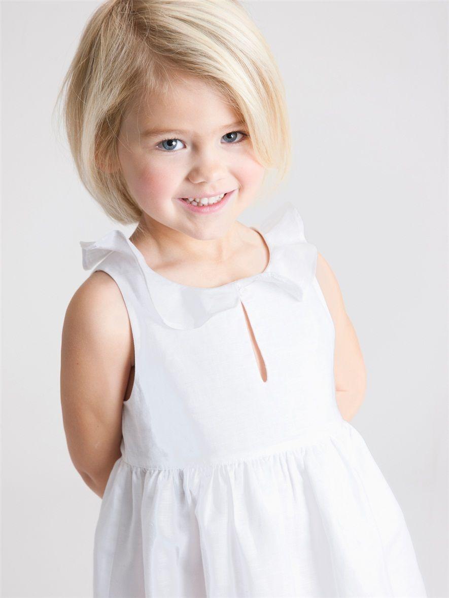 Robe Fille Lin Coton La Fille Vetement Et Deco Cyrillus Little Girl Haircuts Little Girl Bob Haircut Baby Girl Haircuts