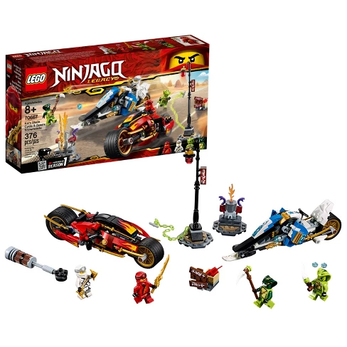 Lego Ninjago Masters Of Spinjitzu Kai S Blade Cycle Zane S Snowmobile 70667 Ciudad De Lego Lego Ciudades