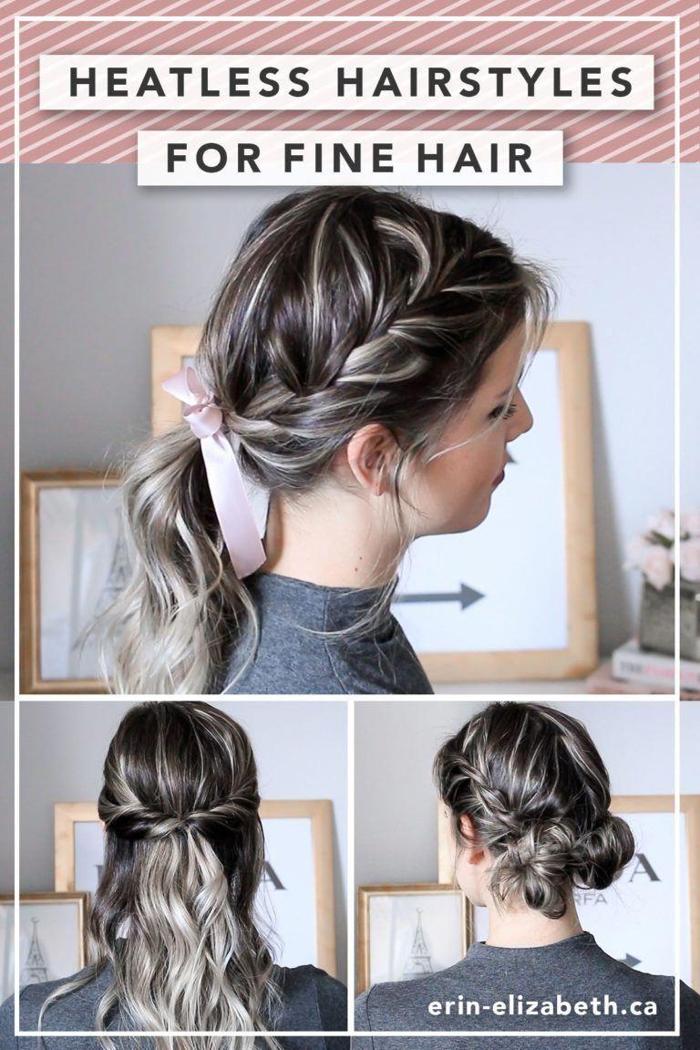 Heatless Hairstyles For Fine Hair Erin Elizabeth Heatless Hairstyles Long Thin Hair Fine Hair