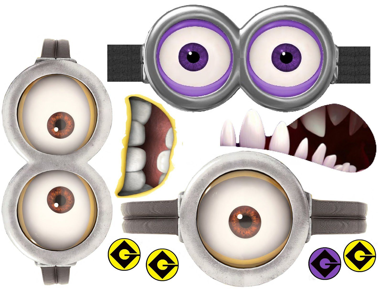 It is an image of Geeky Minion Eye Printable