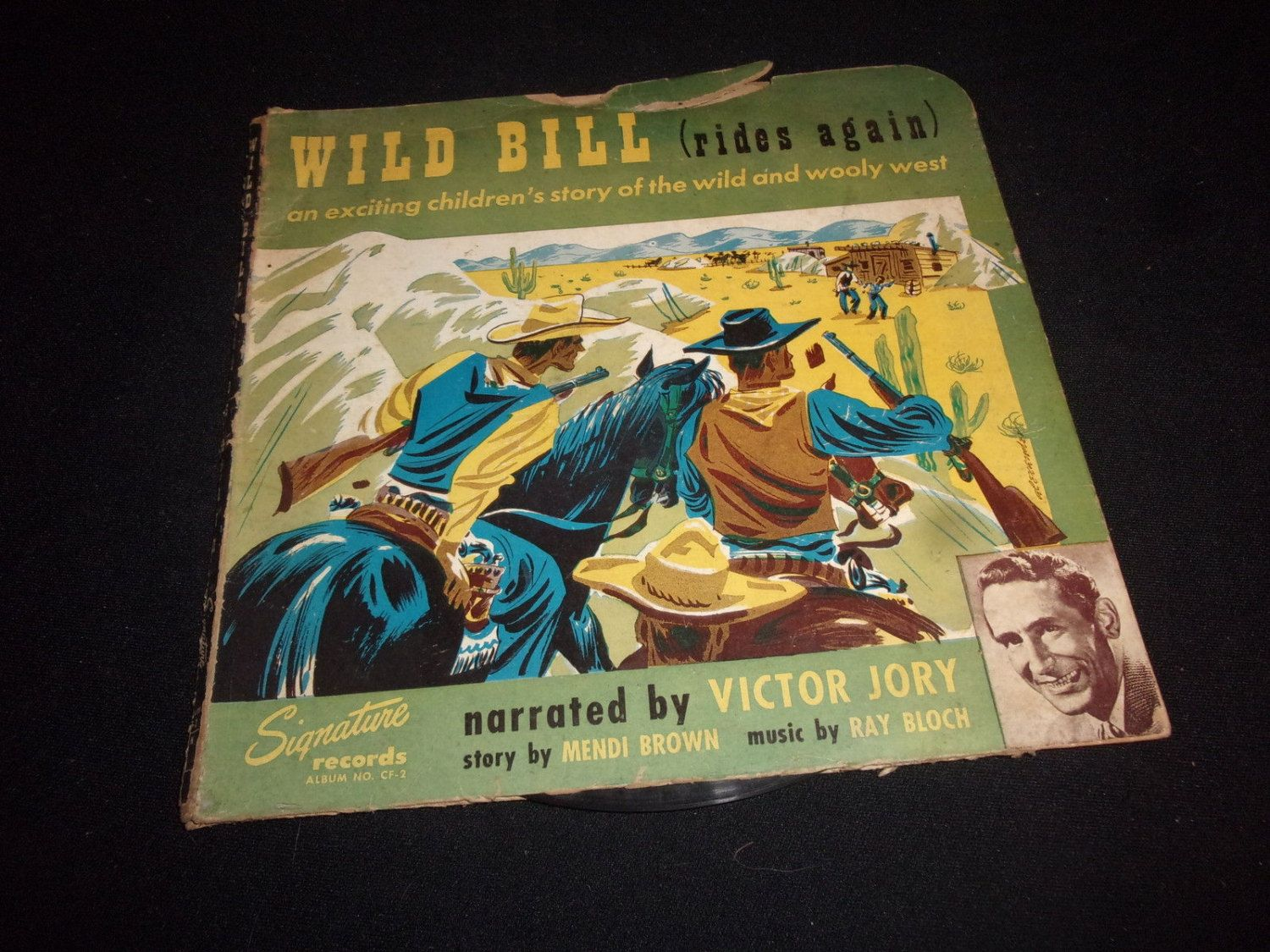 Vintage 1948 Wild Bill Rides Again 78 Record Set - narrated by Victor Jory!