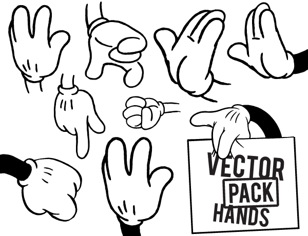 hands free vector pack for editing purposes pinterest free