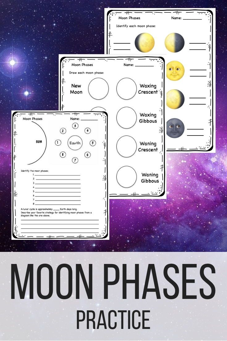 Identifying Moon Phases Worksheet Answers Www Topsimages Com