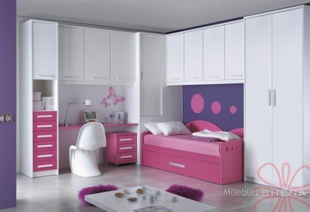 Recamara juvenil muebles infantiles pinterest - Habitaciones juveniles nina ...