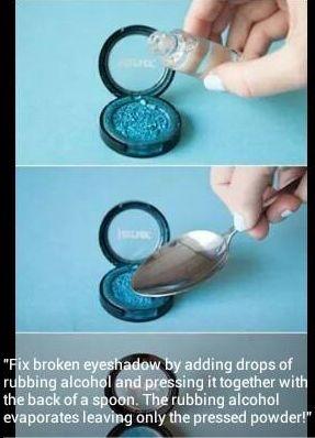 Fix broken eyeshadow