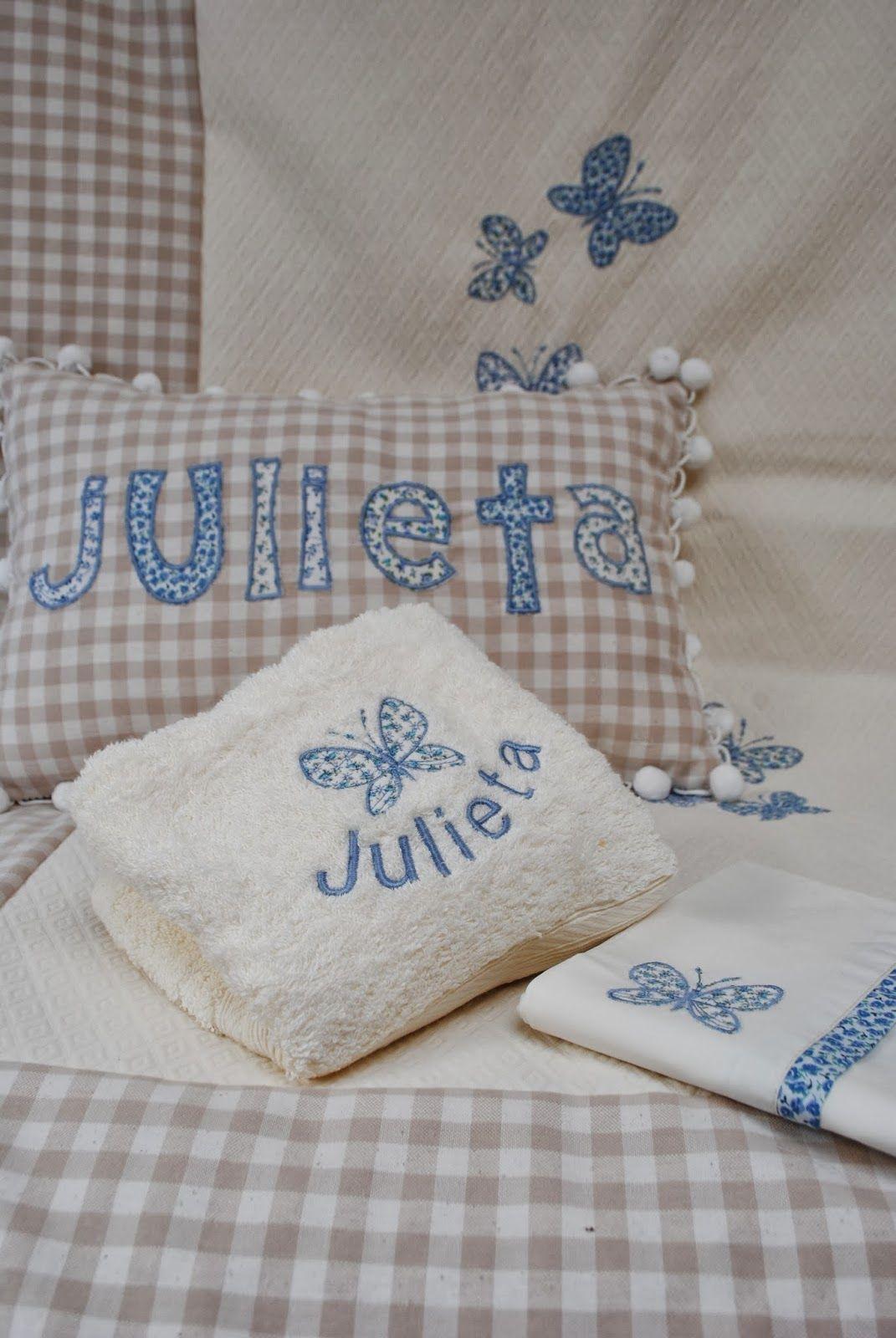 Set para cuna y toallas personalizadas toallas for Apliques para toallas