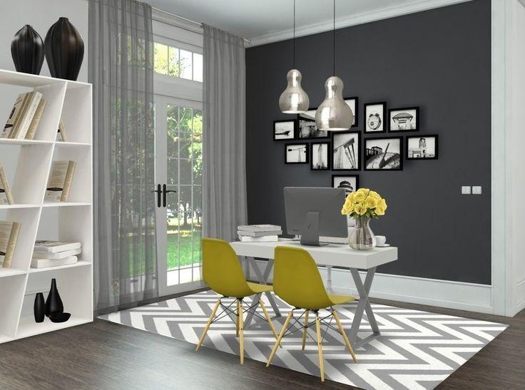 Grey Office Decor