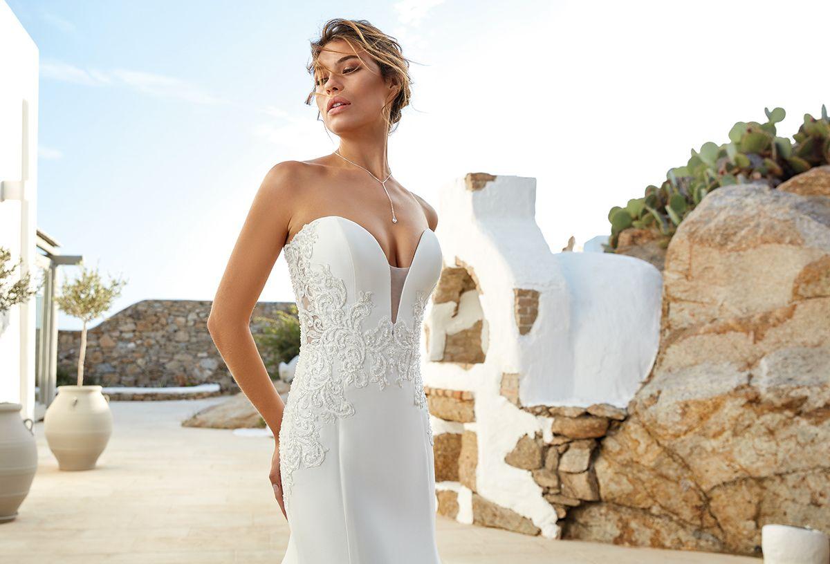 High Society   High neck wedding dress, Wedding dress low